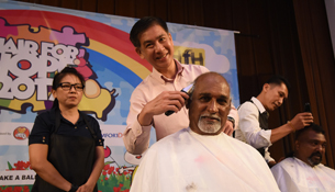 Largest Turnout Of ComfortDelGro Cabbies In Support Of Hair For Hope
